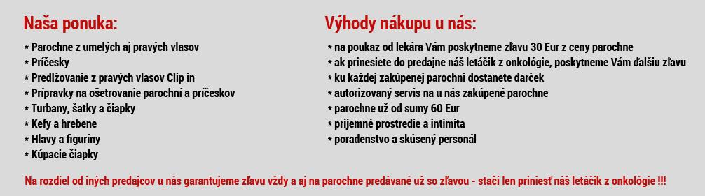 75437f63f Najväčší internetový obchod s parochňami na Slovensku. Parochne ...